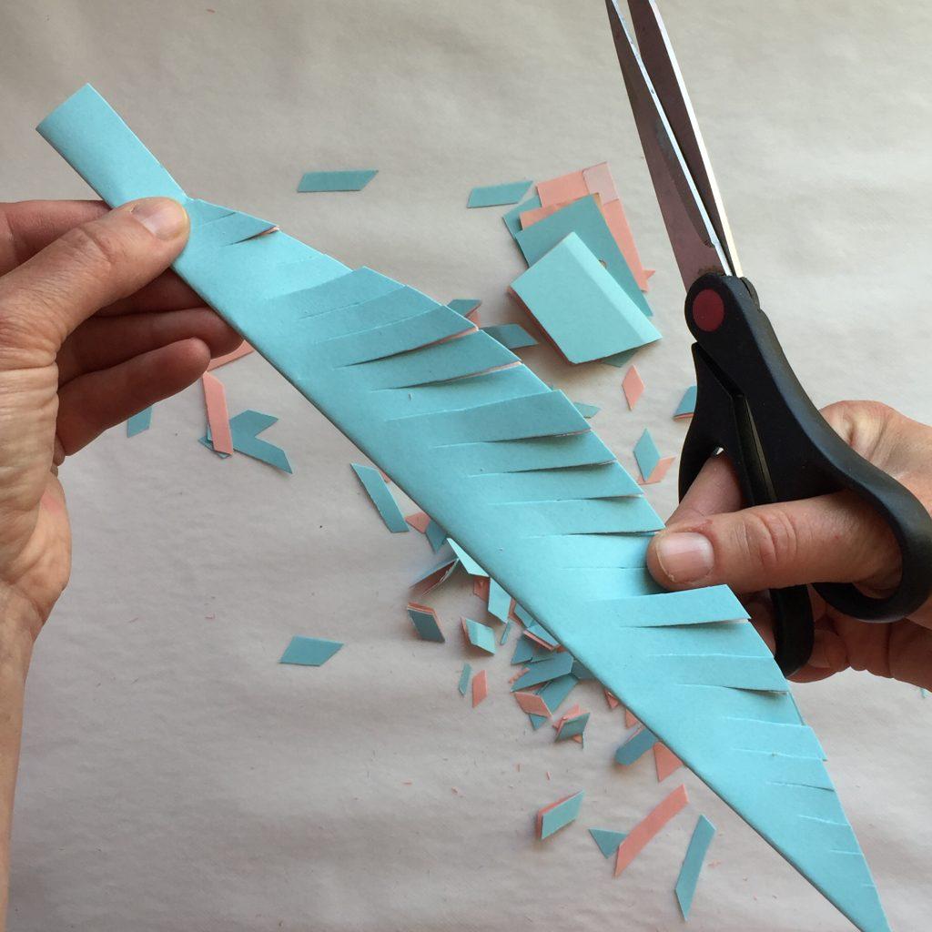 ethnic Garland paper horses feathers cactus